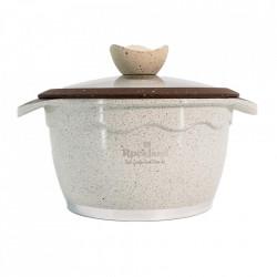 Oala din Granit cu capac 20 cm , Rockland DT20-CR