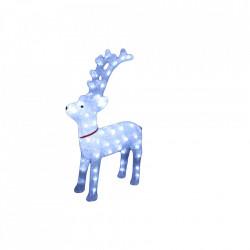 Decoratiune de exterior cu lumini, Ren din acril, 40 Led-uri, dimensiune produs 40cm, 8 jocuri de lumini, cablu de alimentare 3m