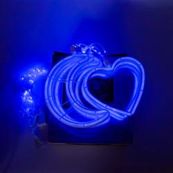 Instalatie in forma de Luna cu Inimioare , BL-384-B, Lumina Albastra