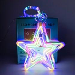 Instalatie in forma de Stele , BL-377-M, Lumina Multicolora