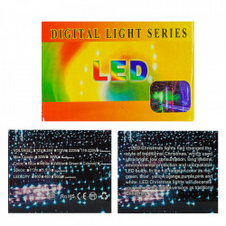 Perdea Lumini de exterior, 960 Led- Lumina Rece 6m x 3m, jocuri de lumini, BL-368-W