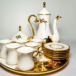 Serviciu de ceai 17 piese din ceramica fina VS45 VITTORIO SABATINI