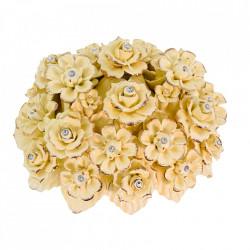 Cos cu flori din portelan