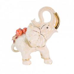 Elefant decorativ cu flori din portelan VITTORIO SABATINI VS-5060
