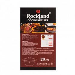 Oala din Granit cu capac 20 cm , Rockland DT20-BK