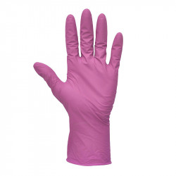 Set 100 buc Manusi Unica Folosinta - Marimea -L, Nitril , roz