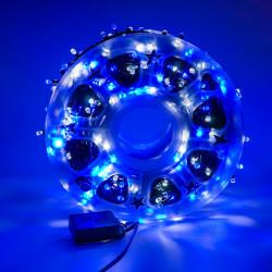 Instalatie de Craciun tip Liniara / sirag 100m, 800 leduri, Lumina Alb / Albastru, BL-362-WB