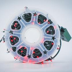 Instalatie de Craciun tip Liniara / sirag 50m, 480 leduri, Lumina Alb Rosu, BL-361-WR