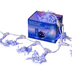 Perdea Lumini de exterior, 3m x 1.5m, 400 Led Albastru, interconectabila
