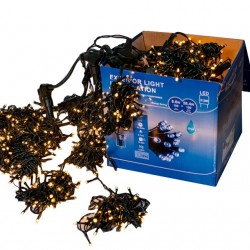 Perdea Lumini de exterior, 4m x 3m, 1200 Led Lumina Calda, joc de lumini, interconectabila