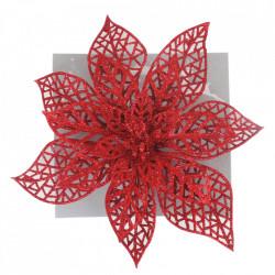 Craciunita pentru brad, glitter rosu, dimensiune 20cm