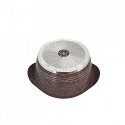 Cratita din Granit cu capac 32 cm , Rockland DT32-MR