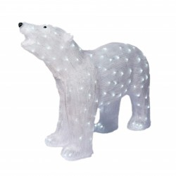 Decoratiune luminoasa pentru exterior, Urs Polar, h 77cm, SW-201