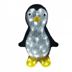 Decoratiune luminosa de exterior Pinguin, 30 Led-uri albe, dimensiunea produsului: 32 * 27 * 38cm, transformator IP44 cu 8 functii