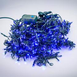 Perdea Lumini de exterior, 3m x 1.5m, 400 Led Albastru, interconectabila, culoare verde inchis, SW-400G-B