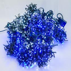 Perdea Lumini de exterior, 3m x 10m, 3200 Led Lumina Alb-Albastru interconectabila, 3200G-WB