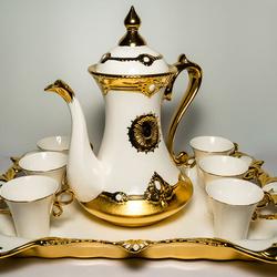 Serviciu de ceai 9 piese din ceramica fina VS52 VITTORIO SABATINI