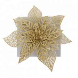 Craciunita pentru brad, glitter auriu, dimensiune 20cm