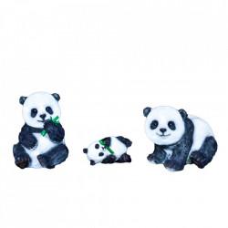 Decoratiune de exterior Ursuletul Panda din fibra de sticla, 480 Led, dimensiune: 55*45*33cm, M-009