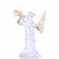 Decoratiune luminoasa pentru exterior 3D Ingeras, h 100cm
