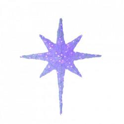 Decoratiune luminoasa pentru exterior, Stea, 100*80*15cm, 100 Led multicolor RGB cu telecomanda