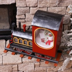 Felinar Muzical cu led si zapada artificiala in forma de Trenulet BL-218/TP-33