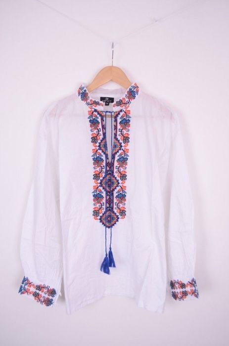 Poze Bluza traditionala, de barbati, cu broderie colorata