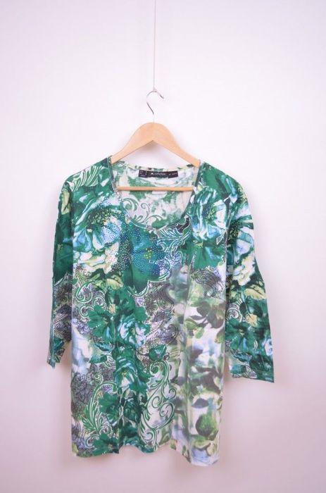 Poze Bluza marime mare, de dama cu print colorat