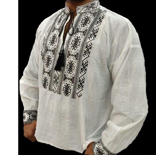 Poze Bluza traditionala de barbati, cu broderie cusuta