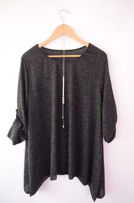 Poze Bluza in colturi, cu accesoriu colier