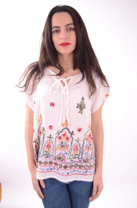 Poze Bluza dama cu broderie colorata