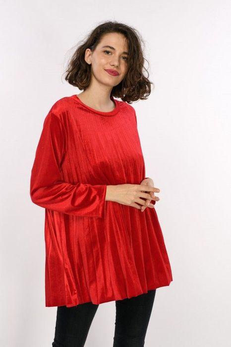 Poze Bluza de dama in pliuri, din catifea