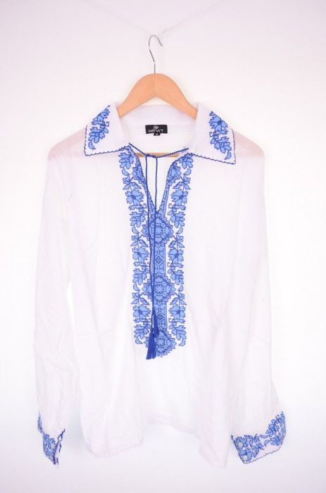 Poze Bluza traditionala barbati, cu maneca lunga, broderie colorata