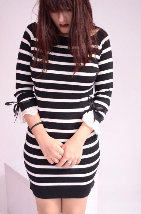 Poze Rochie tricotata, in dungi
