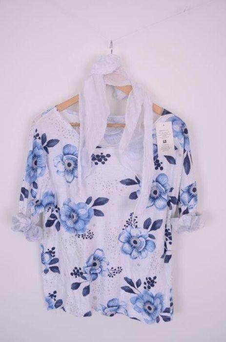 Poze Bluza imprimateu floral, cu esarfa