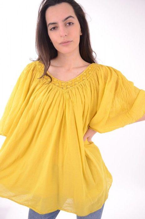 Poze Bluza de dama, cu decolteu in V