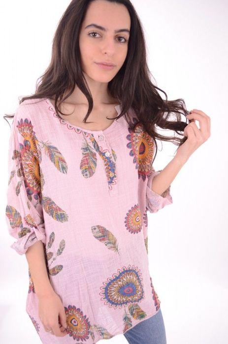 Poze Bluza de dama cu imprimeu floral, marime mare