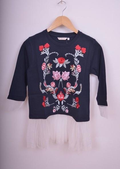 Bluza de dama cu detaliu broderie cu tulle