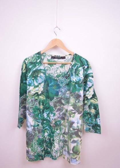 Bluza marime mare, de dama cu print colorat