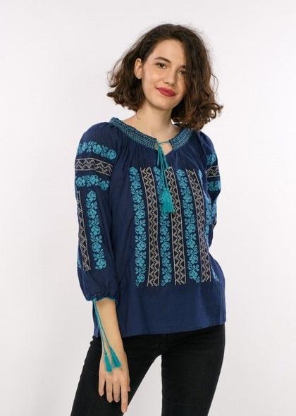Bluza traditionala de dama, cu broderie