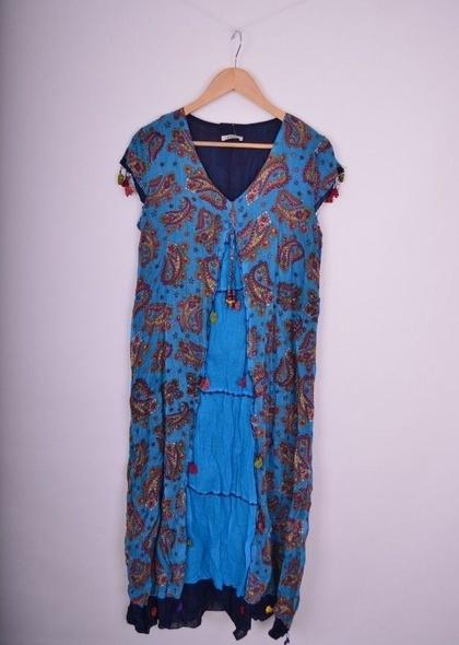Rochie trendy cu imprimeu colorat