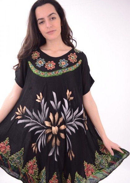 Rochie umbrela cu imprimeu colorat
