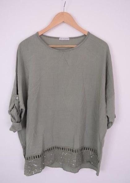 Bluza de dama cu detaliu sclipici