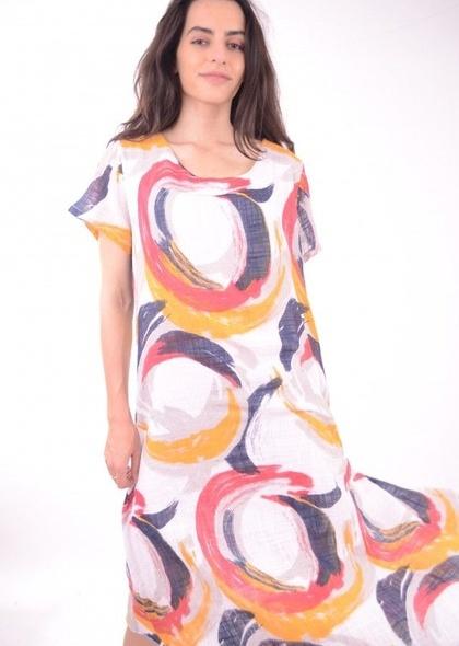 Rochie cu imprimeu colorat