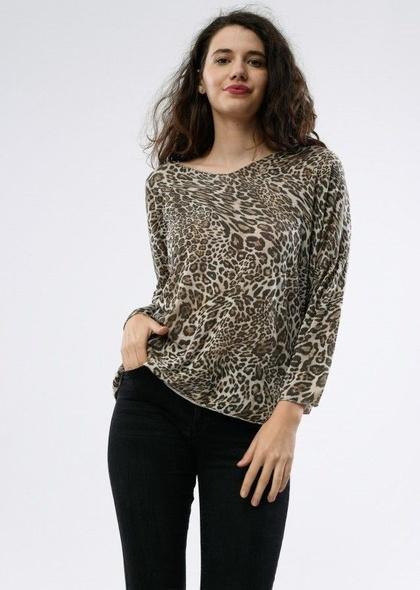 Bluza dama cu imprimeu leopard