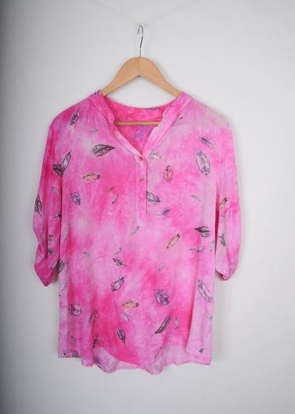 Bluza de dama tip camasa cu imprimeu colorat