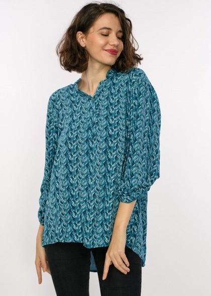 Bluza de dama tip camasa, cu imprimeu