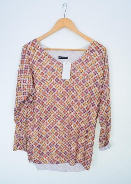 Bluza dama cu imprimeu colorat romburi