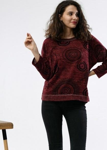 Bluza de dama cu imprimeu cercuri