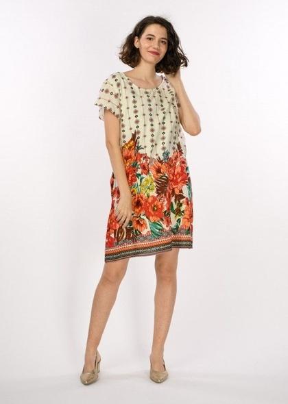 Rochie dublata cu imprimeu floral